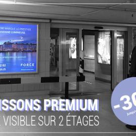 Offre 2 caissons lumineux premium : -30% jusqu'à décembre 2020